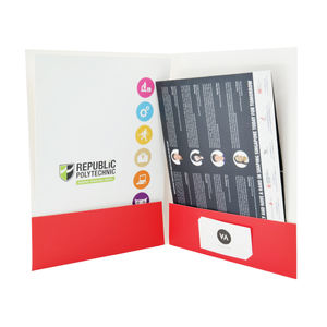 Custom Logo a4 File Paper Presentation Folders with Business Card Slot