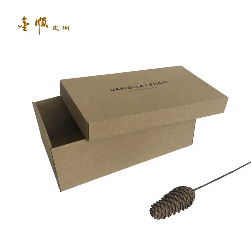 custom biodegradable corrugated paper packaging box for Slipper Beach shoes Sandals leather shoes custom shoe box with logo