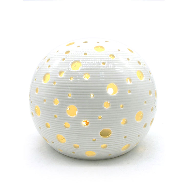 Home decorative ceramic round ball shaped LED night light