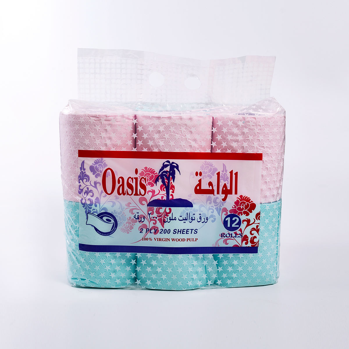 blue pink customized colored toilet paper