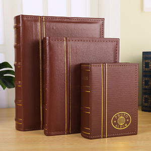 Factory Supply leather pu cover Cheap Plastic Clear Transparent Photo Album