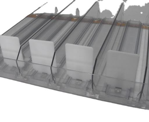 Clear acrylic divider holder Shelf Management System For Tobacco Display