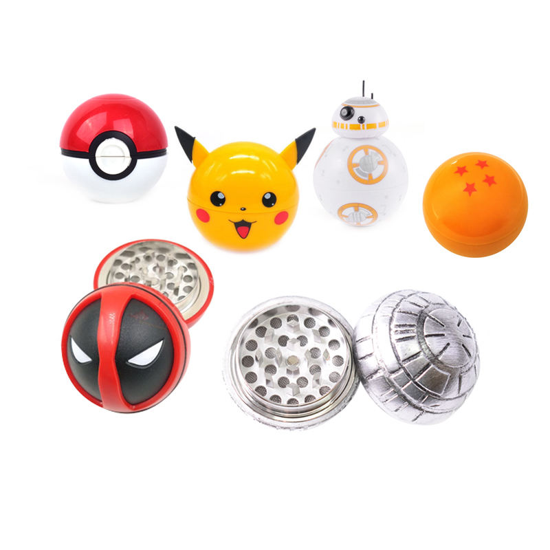 Leuke Cartoon Bb8 Dragon Ball Deadpool Pokemon Tabak Herb Weed Crusher Grinder