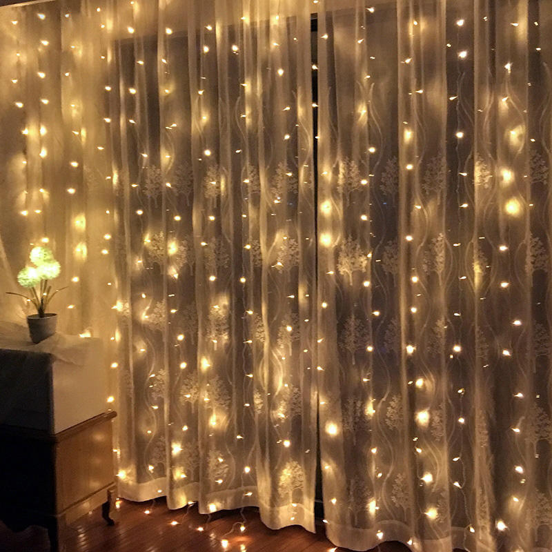 Twinkle Star 300 Led Window Curtain Christmas String Holiday Light For Wedding Party Home productos para navidad 2020