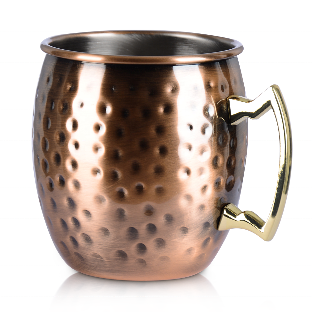 KLP 18oz Drum shape cocktail moscow mule mugs wholesale stainless steel cup