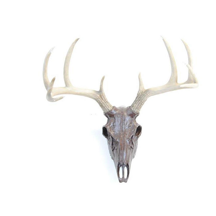 Wholesale Resin Artificial 3D Figure Wall Deer Skull Decoration home