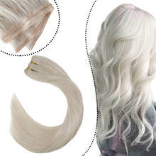 Hottest Products Ombre Silver Cuticle Aligned flat Weft Hair Extensions