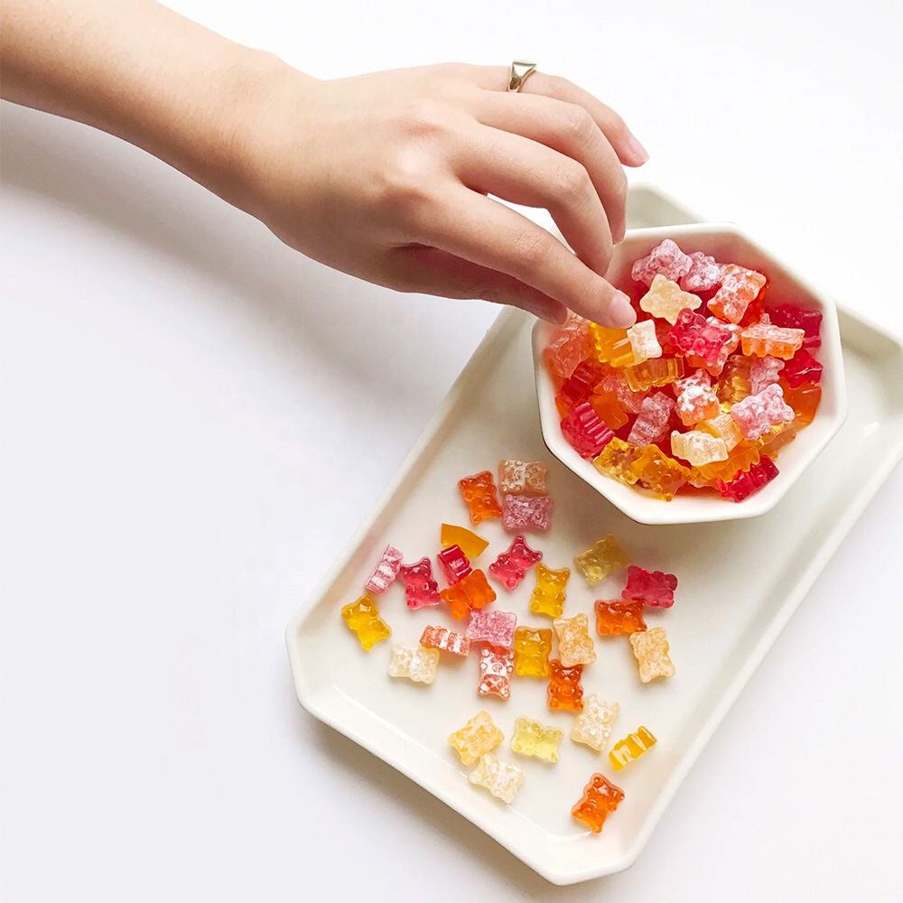 Campioni Gratuiti di Apple Aceto di Mele Supplemento Gummy Made in China Fabbrica