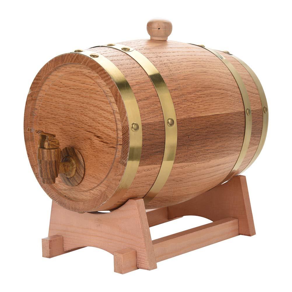 200 L en bois Réservoir d/'eau avec robinet Recyclé en chêne massif whisky tonneau vintage