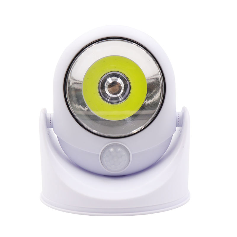 5W COB 180 graus rotatable pir motion sensor night light stand bateria powerde mesa super brilhante luz da noite