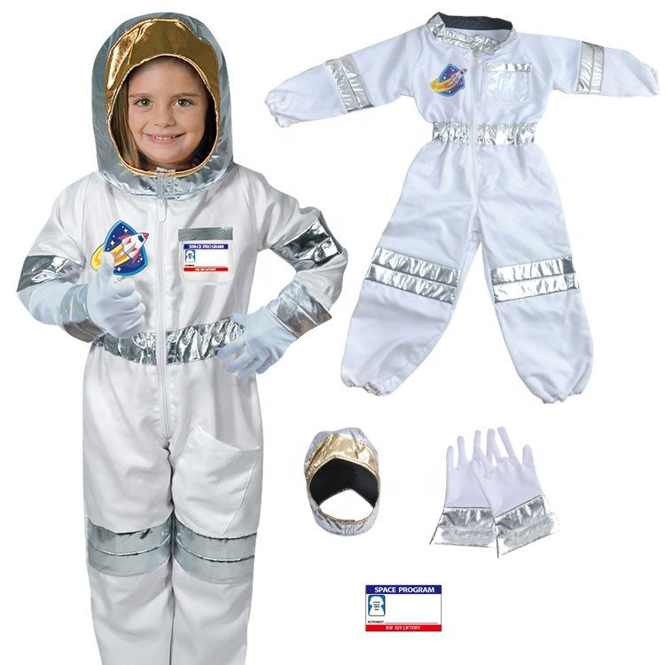 Halloween Party Costume Fireman Suit Uniform Clothing Kids Role Play Occupational Cosplay Astronaut Construction Worker Costume