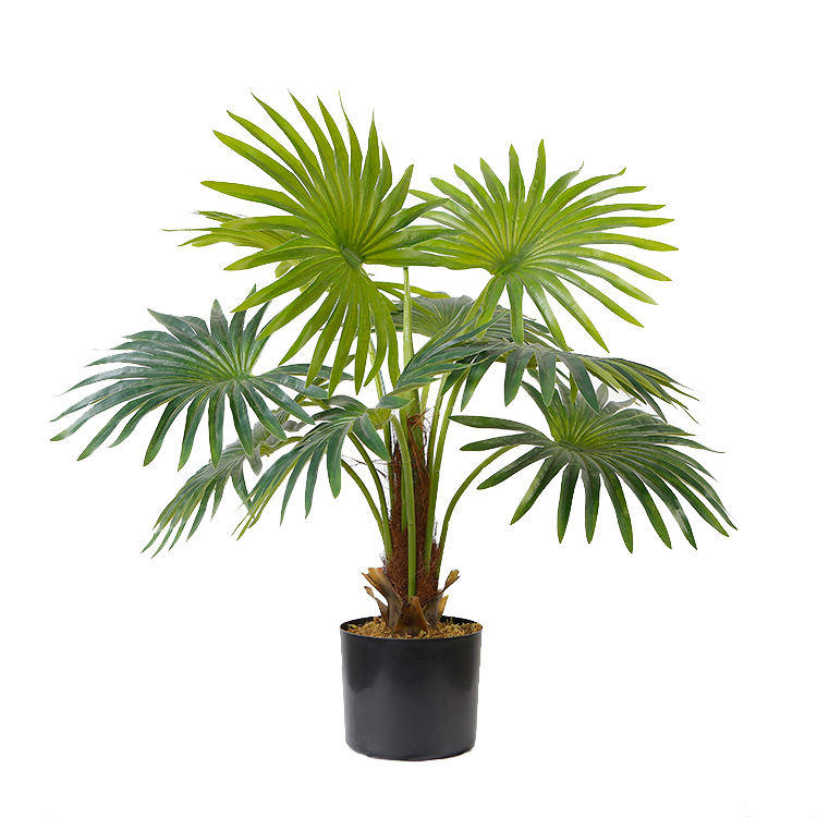 Best Selling 65センチメートルArtificial Fan Palm Palm Artificial Plants Palm Tree Indoor Decoration