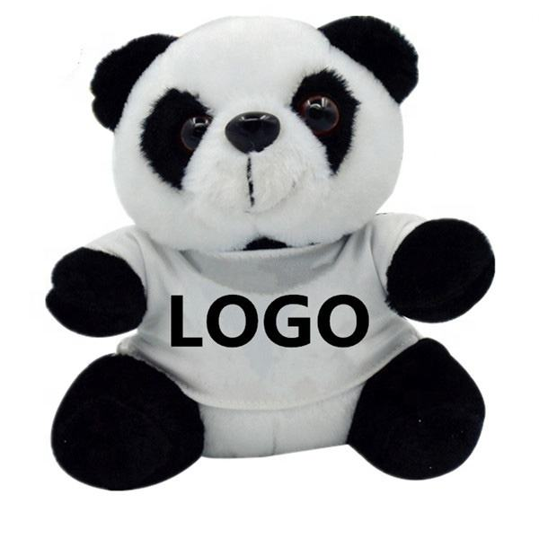 Wholesale Stuffed Animals Plush Panda Bear With T-shirts Custom Brand LOGO Panda Plush Soft Toy Gifts Sale