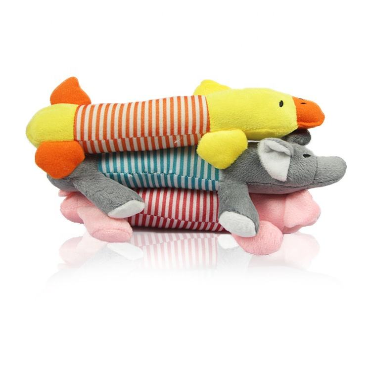 Plush Stuffed Toy Pig Elephant Duck Toy Plush Squishy Toy for Dog and Cat