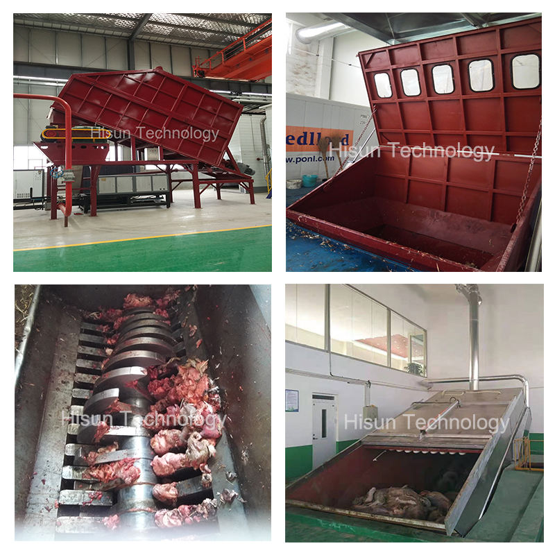 Feather meal processing equipment poultry waste rendering machine cattle feed machine plant