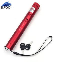 Powerful 303 18650 Rechargeable Focusable Super Bright Burn Professional Laser Pointer