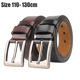 ZK05-110130 high-grade factory direct men's belt jeans sports casual fat crowd male long code large size leather belt