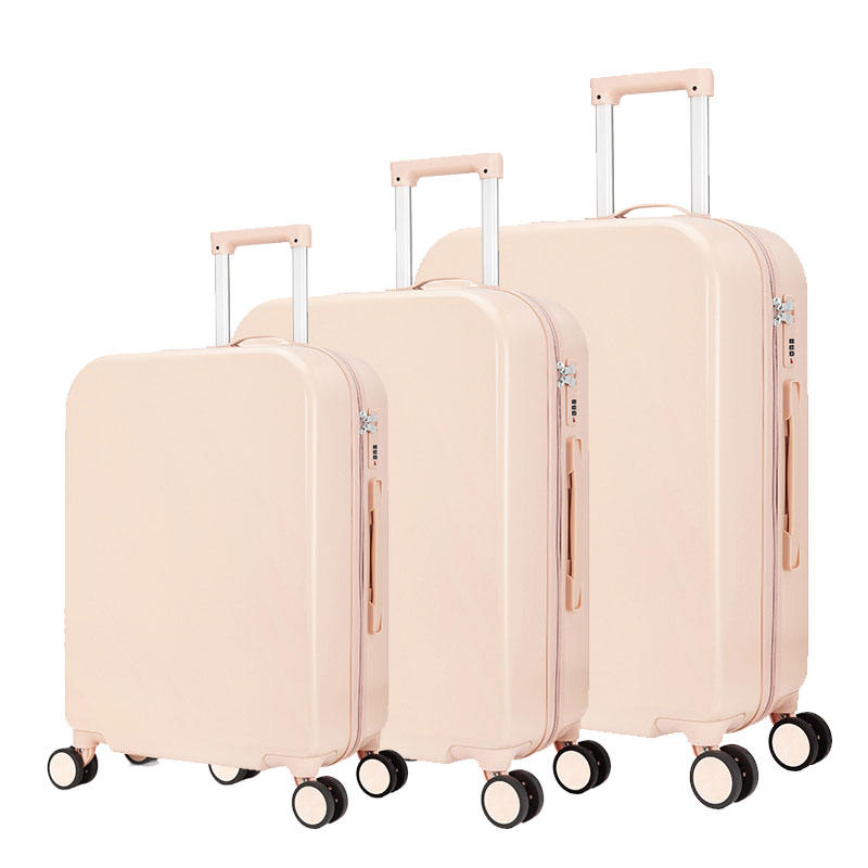 Beige color 5 Piece Hard Side Suitcase Set Spinner Luggage ABS PC Plastic Trolley Luggage