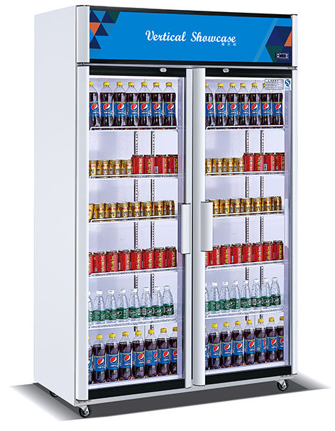 Super market display counter commercial refrigerator showcase