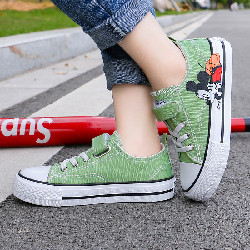 Children Shoes Mickey Fashionable Student Street Dance Sport Kids Canvas Casual Shoes