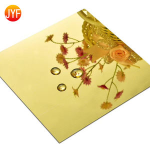 JYF-19 Titanium Gold Super Mirror 4X8 Brass color 304 stainless steel sheet