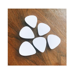 Gloss White Blank Dye Sublimation Aluminum Printable Personalized Guitar Picks 28x32mm Double Side Printing Guitar Picks