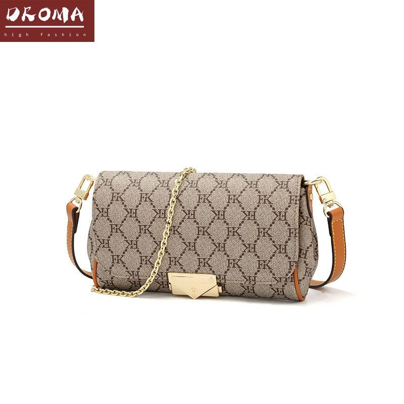 Droma wholesale in stock new arrival custom logo vintage printed button blank bag cross body new fashion handbag for ladies