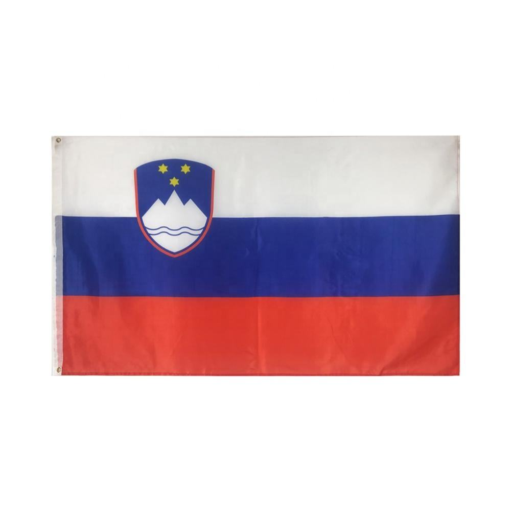Chuangdong 100% polyester 3x5 ft nationale goedkope custom Slovenië <span class=keywords><strong>vlag</strong></span>