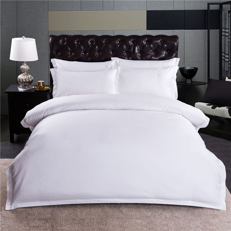 white 100% cotton hotel queen luxury bedding sets bad sheet cotton bedding set