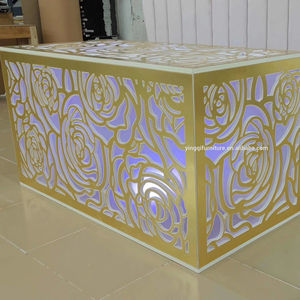 Luxury Wedding LED Acrylic Carving Bride and Groom Table