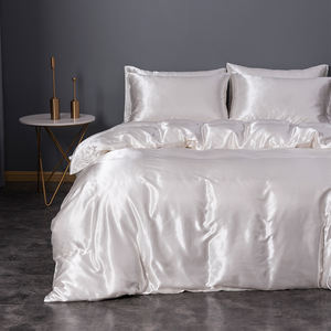 China Manufacturer Custom Silk White Home Hotel Luxury Bedsheets Bedding Set For Wedding