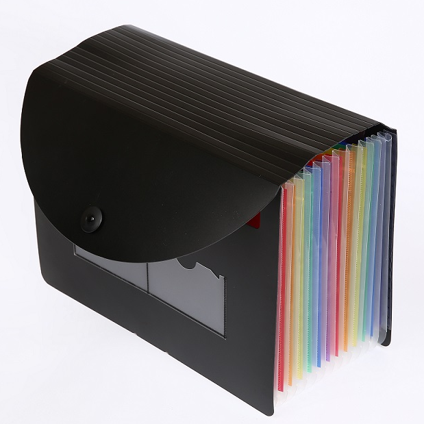 Rainbow Color A4 PP Plastic 24 pocket Expandable File Organizer Filling Folder for office school supplies