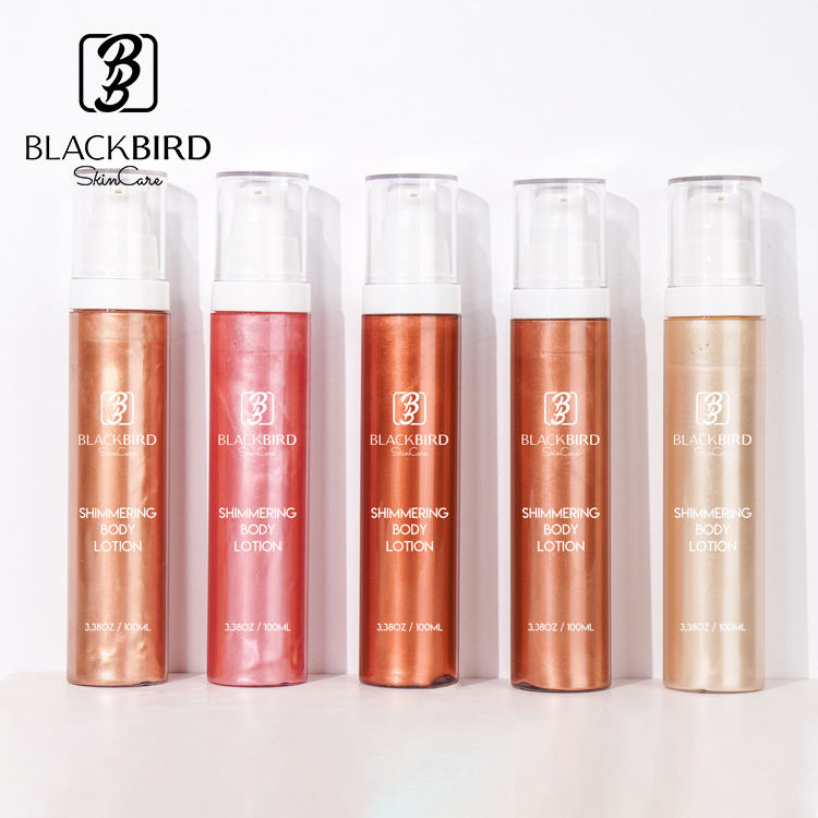 Private Label OEM ODM Waterproof Body Luminizer Bronzing Shimmering Body Oil For The Skin Glowing Golden Tan