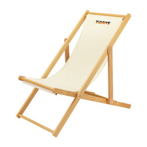 Tianye wholesale factory foldable wooden lounge folding reclining beach sea chair for camping