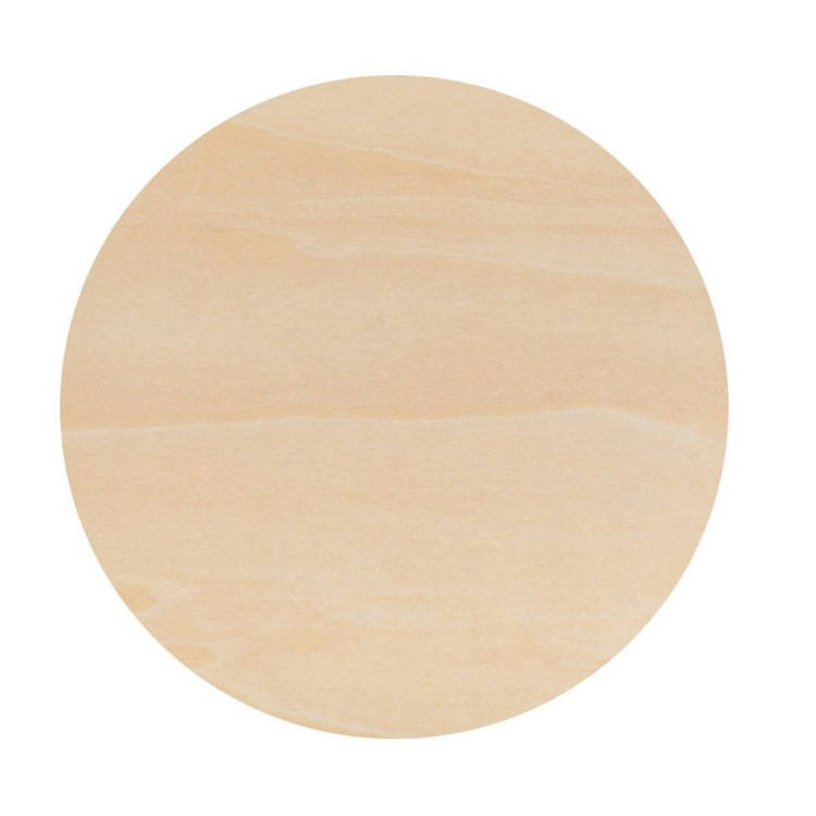 12 Inch large artistic creation natural unfinished round wooden tray