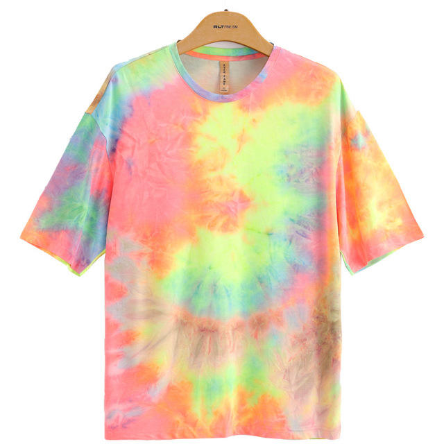 Wholesale Viscose Polyester Custom T Shirts Tie Dye T Shirt Men