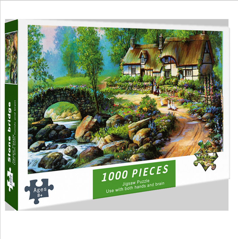 Jigsaw Puzzle 1000 Piece for Adults Teens Kids and Family - Challenging Colorful Puzzle - Art Lion - High Resolution 3d puzzle