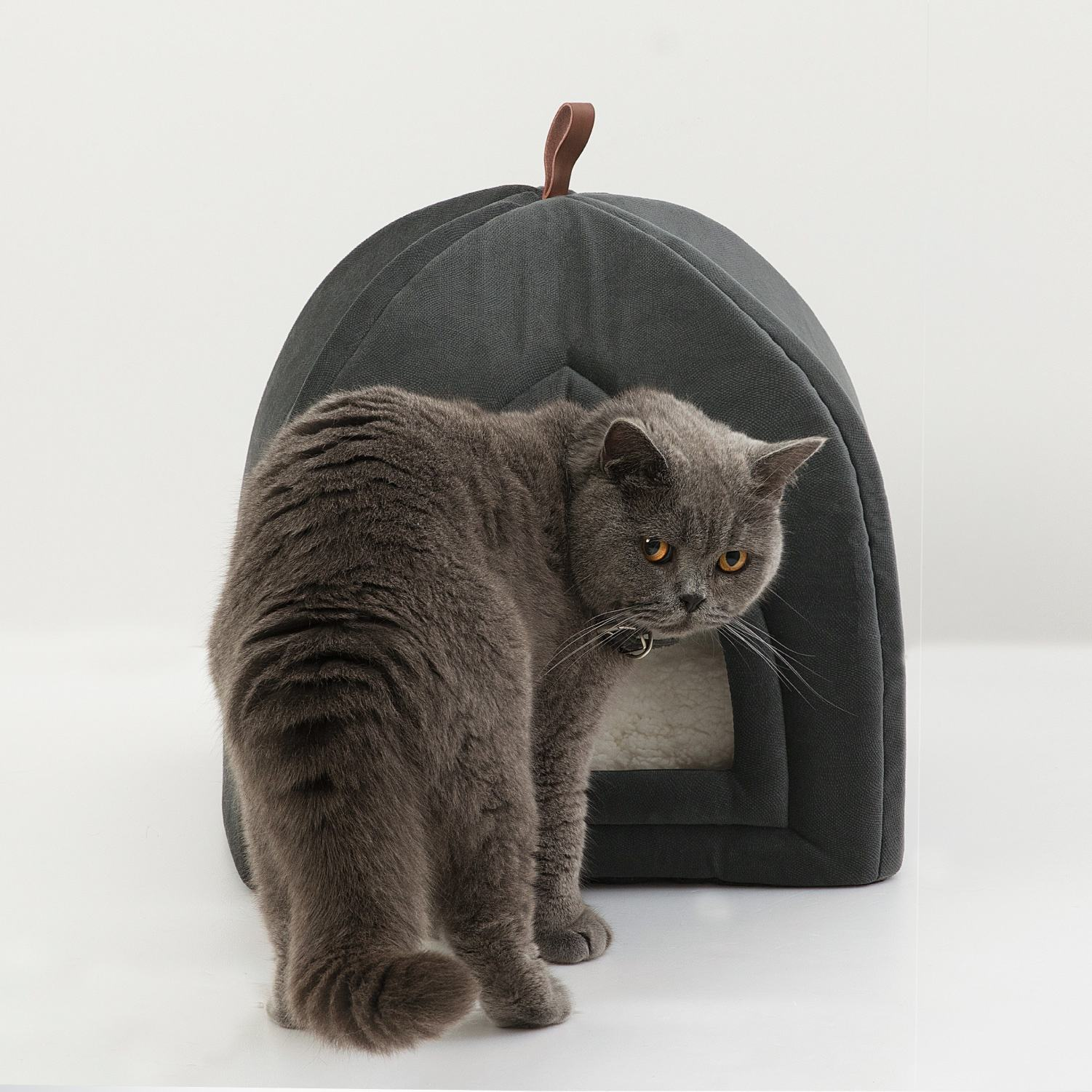 2020 Stylish Fancy Anti-mud Soft Comfy Calming 2 in 1 Cat Tent For Cat
