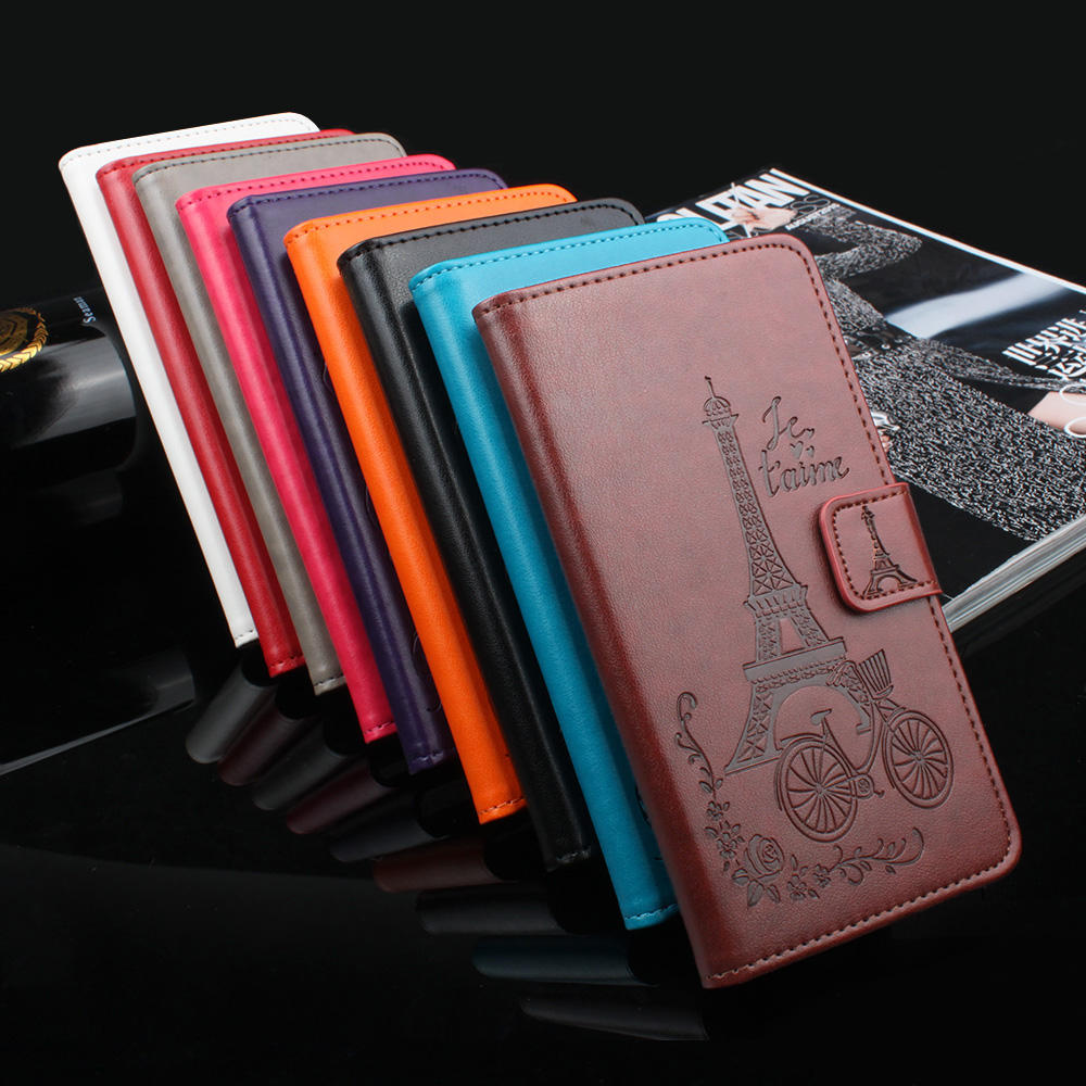 Voor iPhone 11 Pro Max Samsung Galaxy A8 Plus A9 2018 A10 A10S A20E A30 A20 A40 A50 A70 S10 lite S10E Reliëf Toren Leather Case