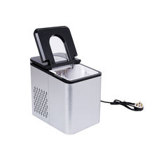 Mini White Plastic Stainless Steel Home Portable Ice Maker With Refrigerant Review Window LED