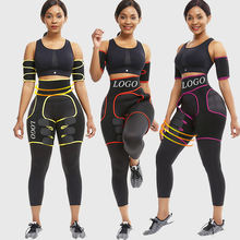 Fat Burning  Butt Lifter Women Slimming Leg Arm Shaper Thigh Eraser Shaper Custom Neoprene Waist Trainer Private Label