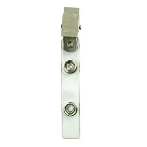 Strapping business ID badge key card holder metal badge name tag clip