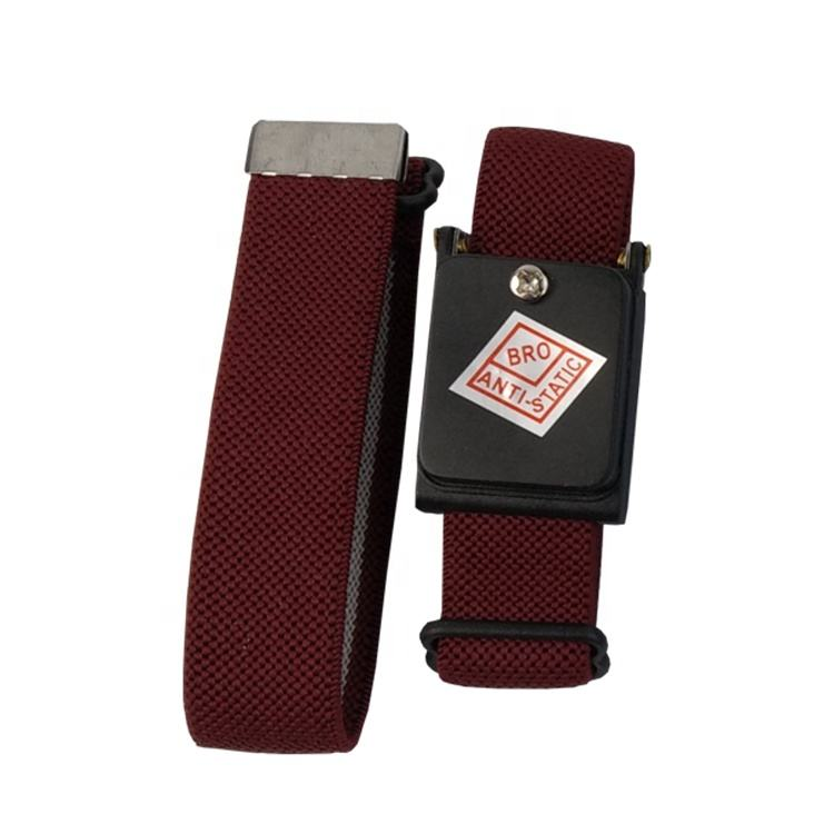 High Quality Adjustable Clean Room PVC ESD Antistatic Red Cordles Wireless Wrist Strap