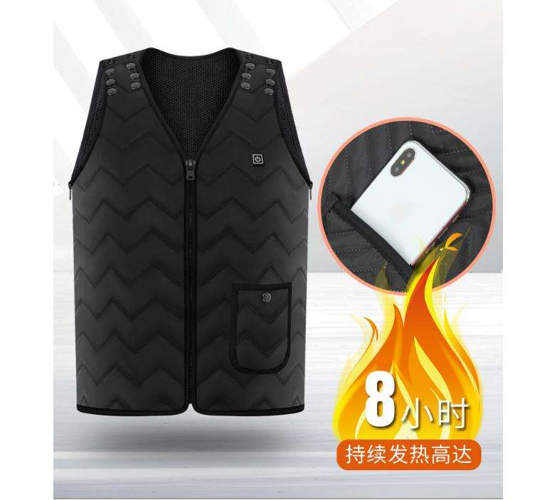 Amazon hot USB Heated Vest Winter Sleeveless Electrical Heated Jacket Travel Heating Vest Outdoor Waistcoat Hiking Heater Vests