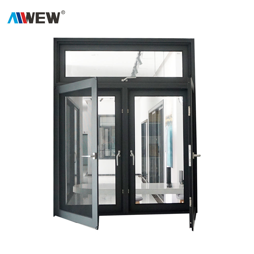Canadian standard new design aluminium alloy outward casement swing window in Guangdong Foshan China