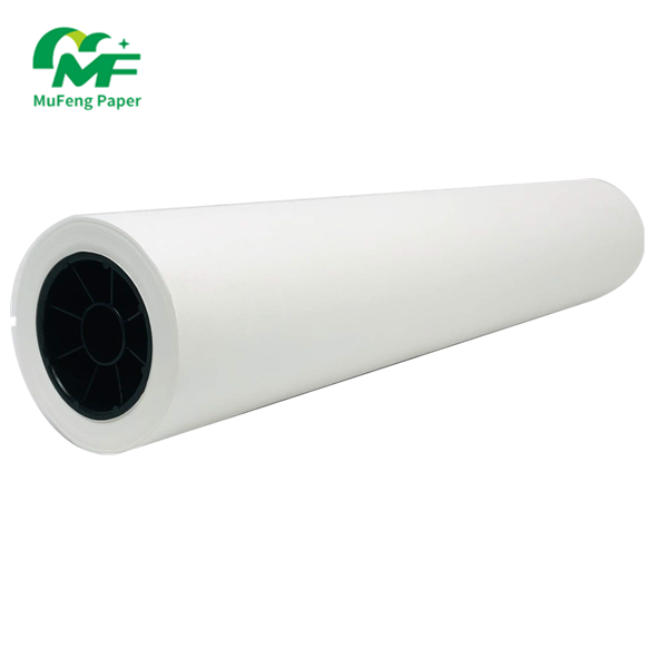 Material China 50gsm White Cam Recycled Pulp Style Professional 60gsm Roll Inkjet 180g Cad Opaque Bond 44inch Plotter Paper