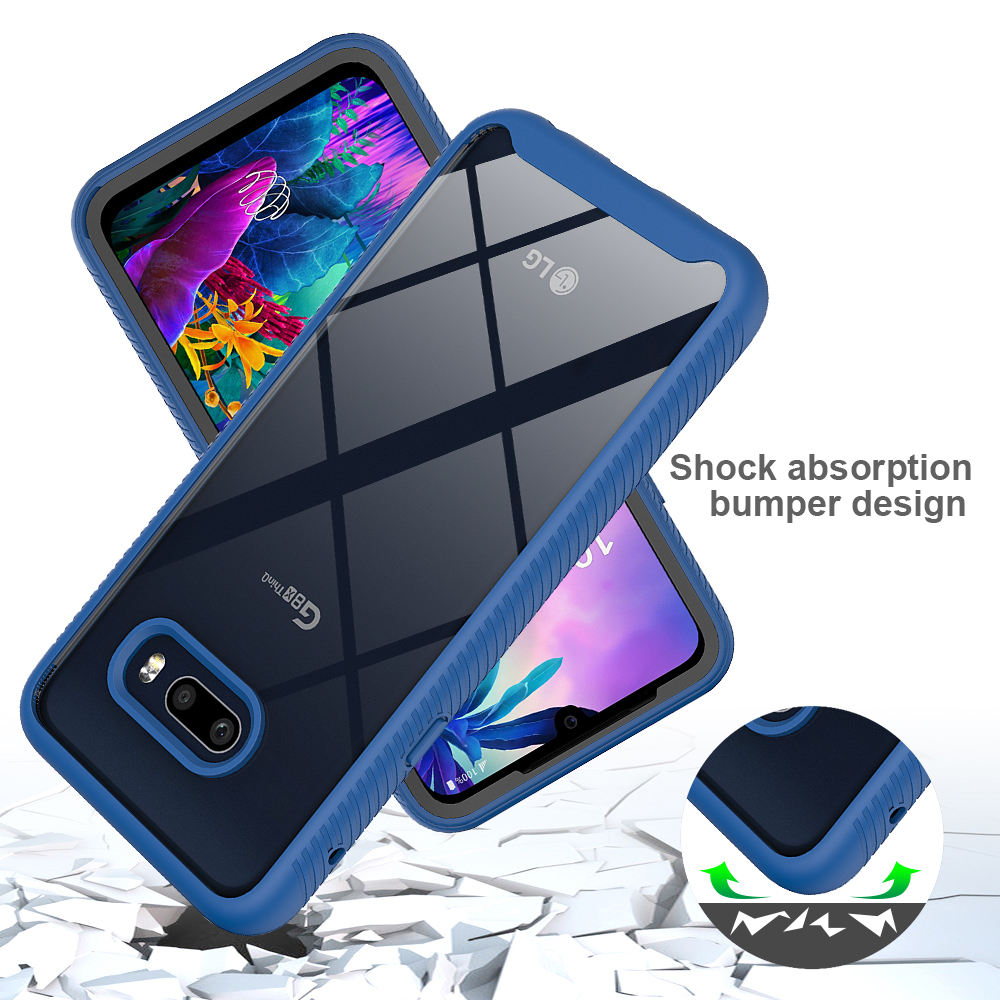 360 Full Protective Slim Armor Phone Case with Front Frame Back Cover for LG G8x ThinQ / V50s ThinQ