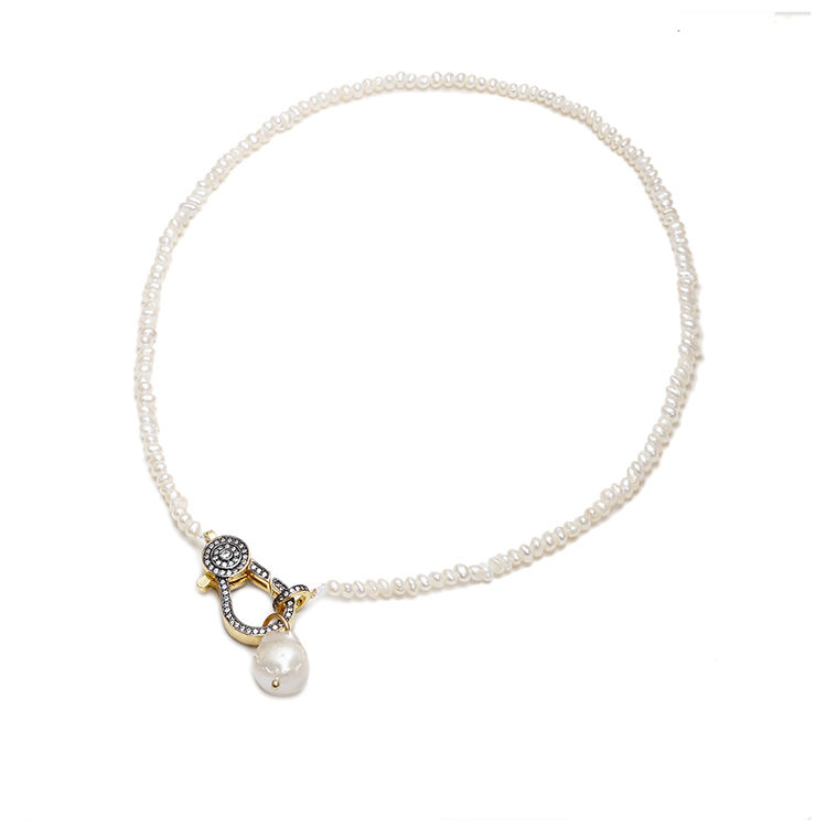Beautiful Exquisite Women Accessories Pearl Lock Charm Necklace Charm Jewelry Pendant Clasp