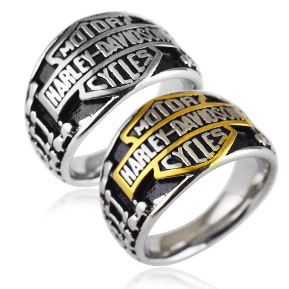 RTSZO-328 Fashion stylish Europe HARLEY vintage rings silver ring design for men silver ring