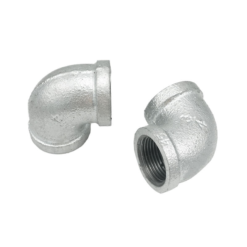 NPT thread pipe fittings hot dipped galvanized or normal black malleable iron elbow used for pipe lines
